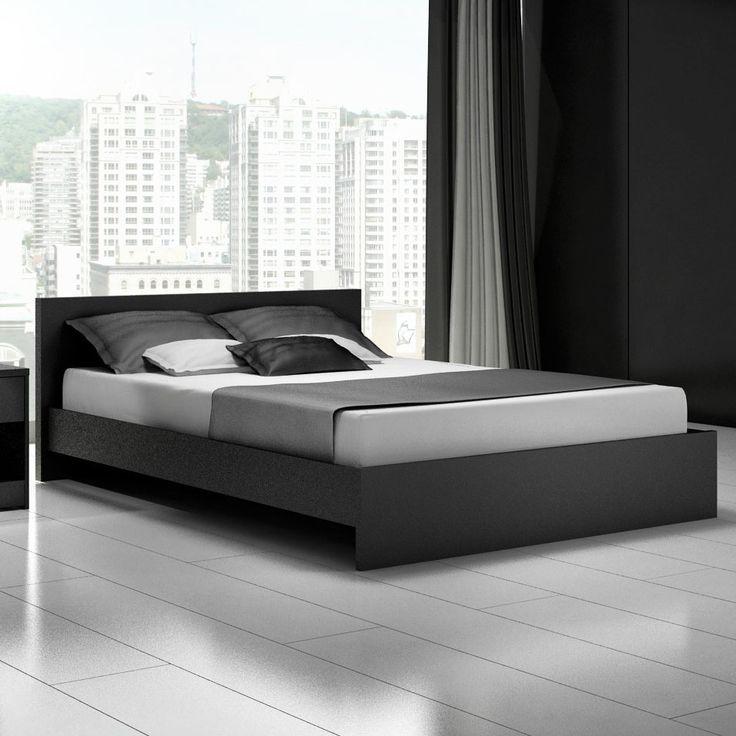 modern bed frames modern black queen platform bed frame cool designs OMKCPCY
