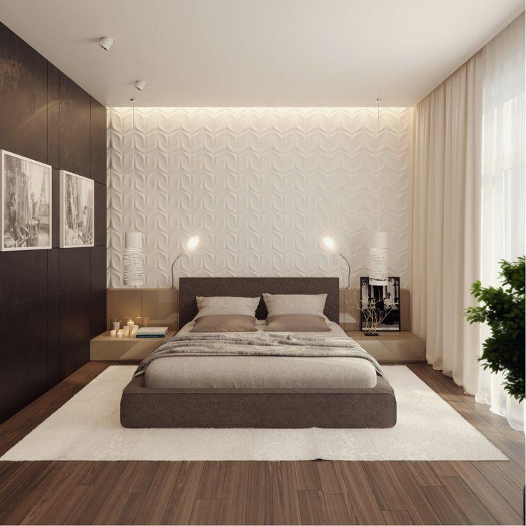 modern bedroom интерьер квартиры 250м на ул молодогвардейская , архитектурное бюро  александры федоровой LBKLBWI