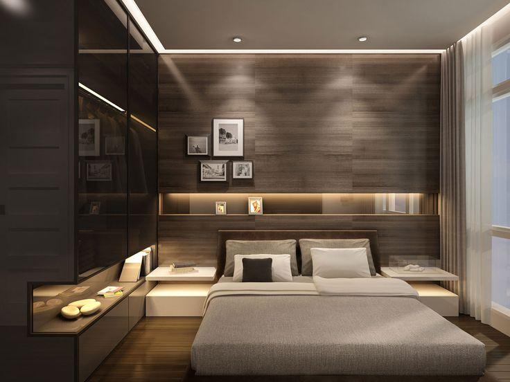 modern bedroom un dormitor in care s-a optat pentru un decor modern in care culorile QRVCJTG