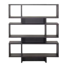 modern bookcase baxton studio - baxton studio cassidy modern bookshelf, dark brown -  bookcases YCERLBA