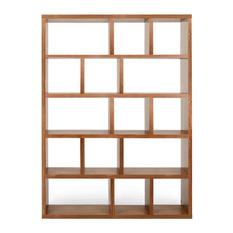 modern bookcase temahome - berlin 5-level shelf, walnut - bookcases LZHBRUX