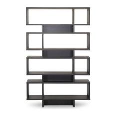 modern bookcases baxton studio - baxton studio cassidy 8, level dark brown modern bookshelf RFGBOYU