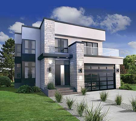 modern house plan 80826pm has a second floor master suite with a wraparound VLTZWSN