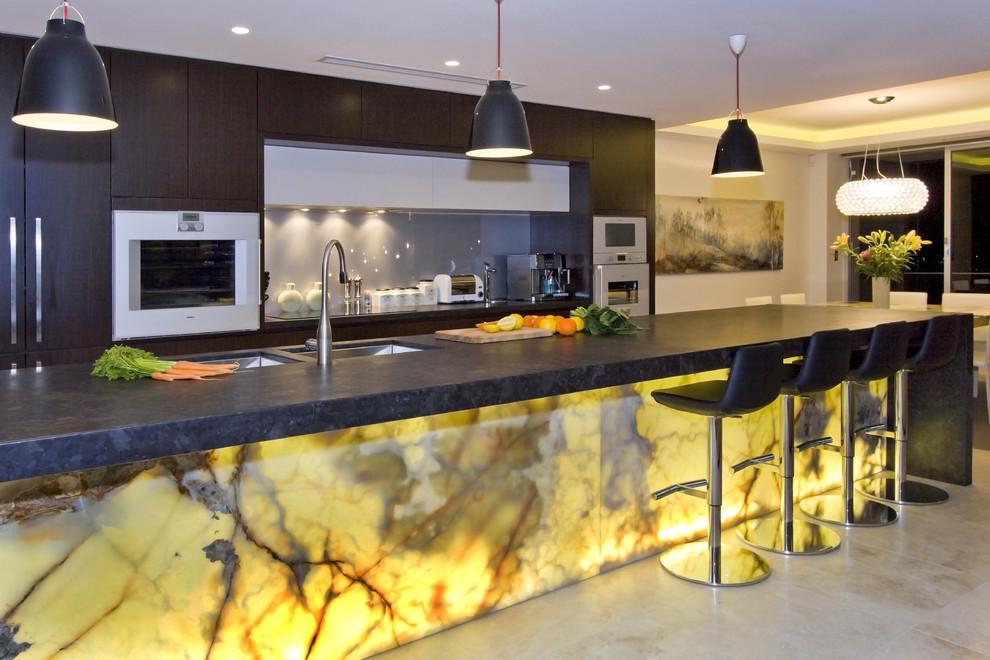 modern kitchen design the glowing marble kitchen design LRYYABY
