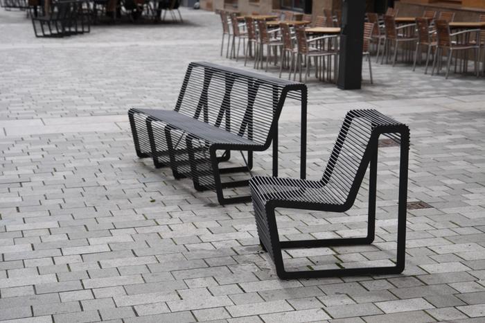 modern street u0026 site furnishings - urban furniture around the square VZOYEAV