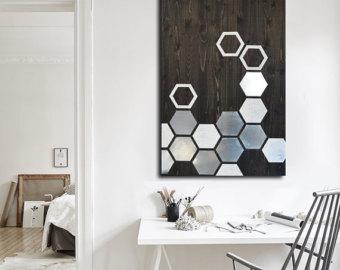 modern wall art - metal wall art - wall art wood - geometric OFVZFHU