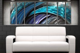 modern wall art ... typhoon abstract metal wall art panels by brian m jones ... HXORBCF