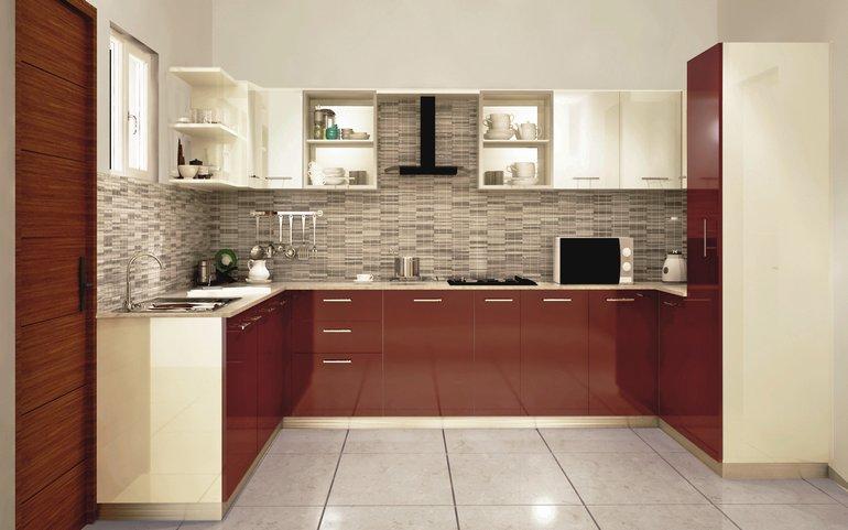 modular kitchen condor spacious u-shaped kitchen XPROJAI