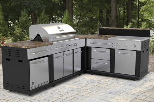 modular outdoor kitchens shop master forge corner modular outdoor kitchen set at loweu0027s canada. find NJFHKHW