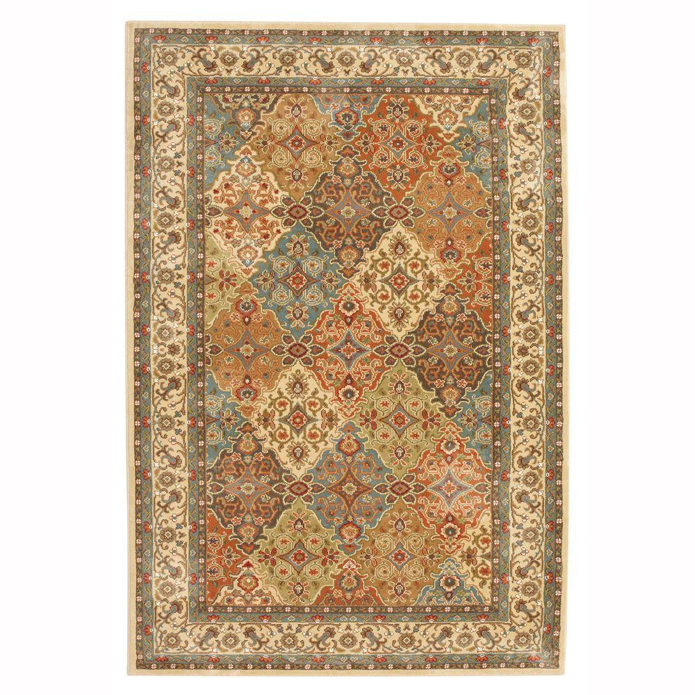 mohawk area rugs persia almond buff 8 ft. x 10 ft. area rug KVJAAAM