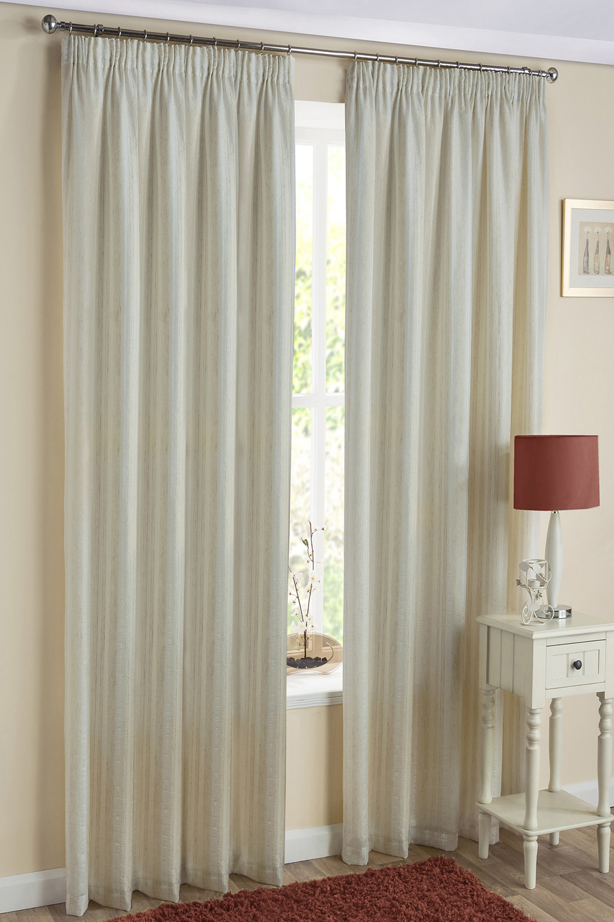 monaco readymade lined voile curtains YTPUQGY