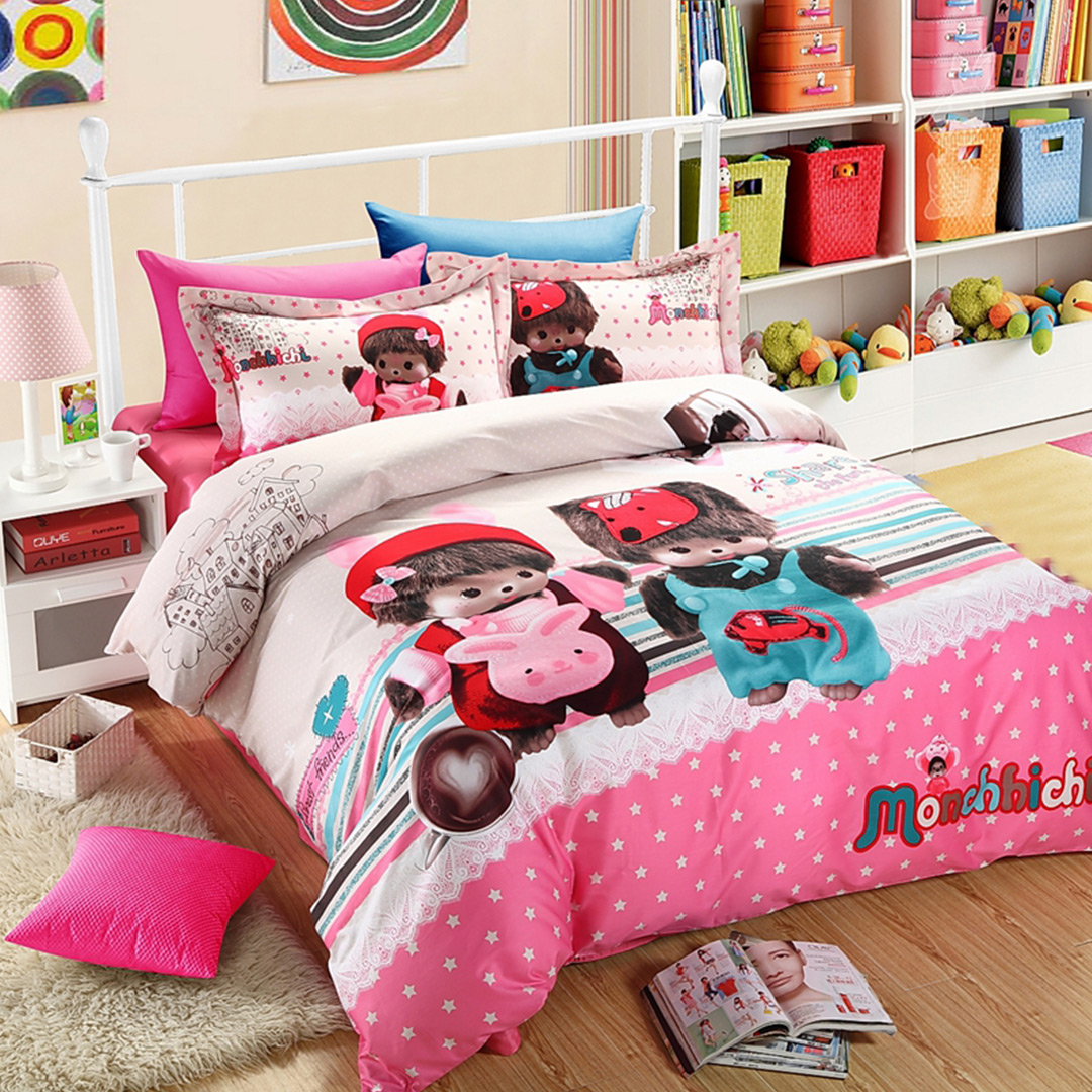 monchichi kids bedding sets AUKWDOQ