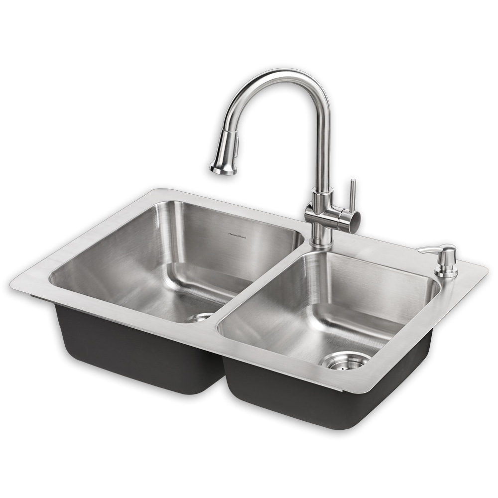 montvale 33 x 22 kitchen sink with faucet - american standard QGHHMEF