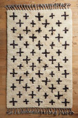 moroccan rug hand-woven moroccan cross rug | anthropologie VZRJDFH