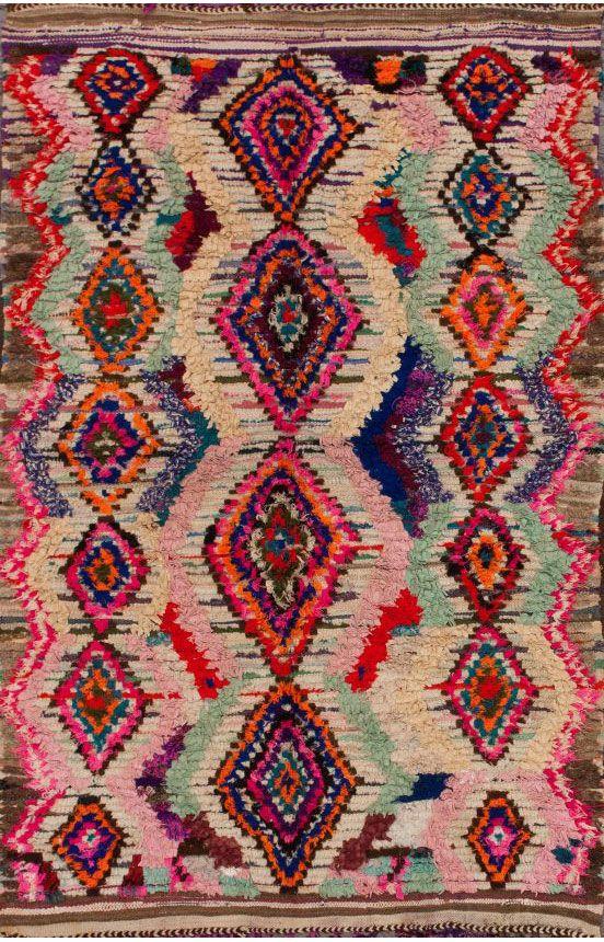 moroccan rug the colors in this rug are unreal. moroccan azayku berber multi rug #libelle KBJTAYD