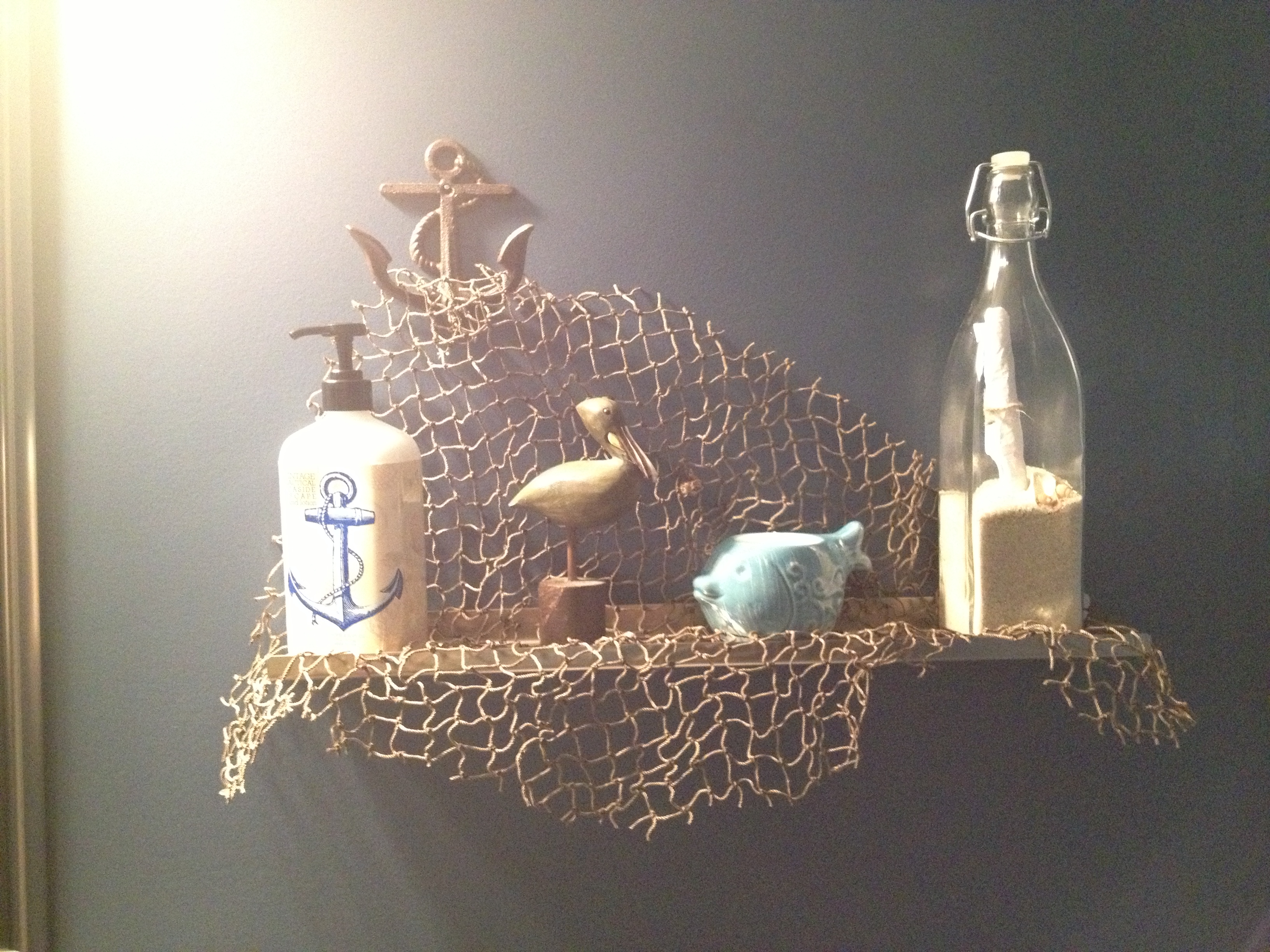 nautical bathroom decor cute shelf decor for a nautical bathroom! make sure you put a real LESWWSX