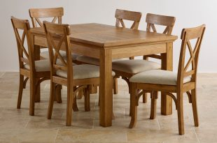 oak table and chairs custom delivery taunton rustic solid brushed oak dining set - 4ft 7 SQKNJDF