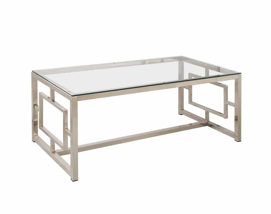 occasional group contemporary metal coffee table with glass table top u0026  geometric FKXJZZC