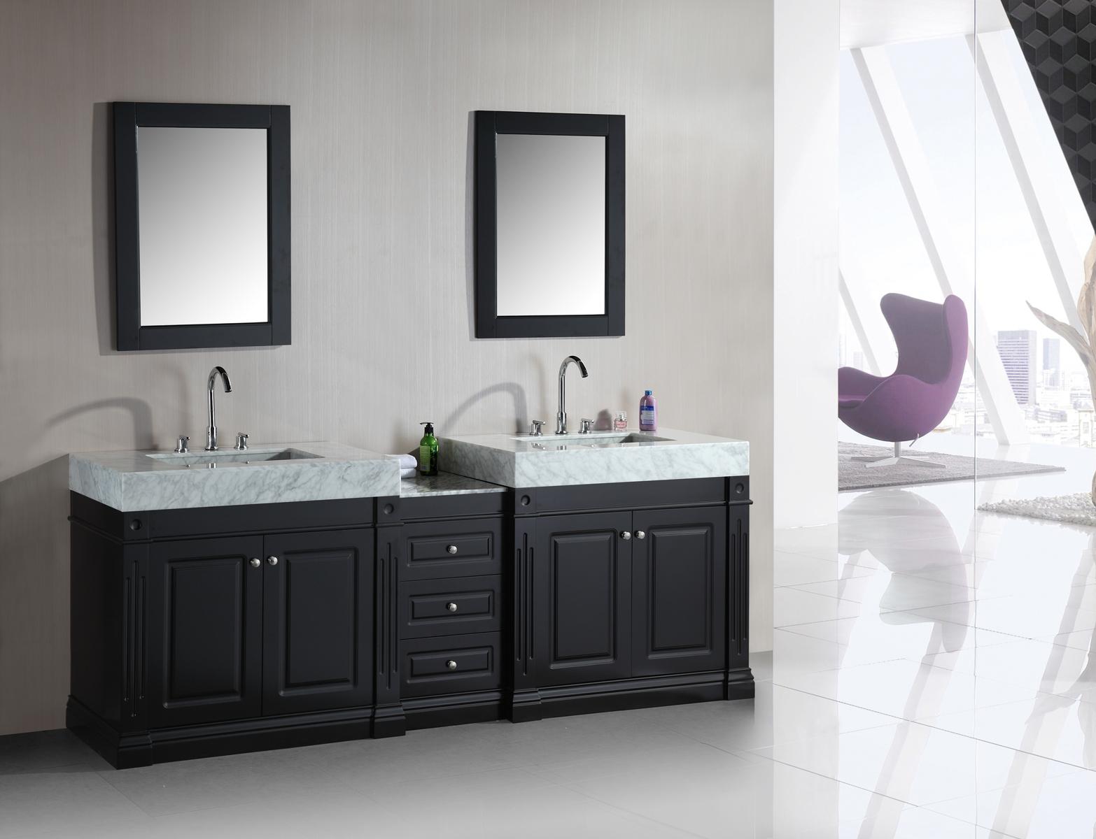 odyssey 88u2033 double sink vanity set with trough style sinks | design element JAUDGWU