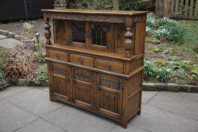 old charm furniture old charm wood bros oak display dresser cupboard sideboard. JWCTZUU