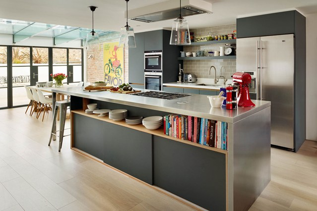 open plan kitchen black beauty FWCBMNH