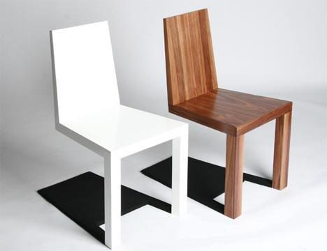 optical illusion furniture: creepy shadow chair design KVUKCLG