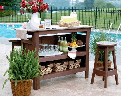 Outdoor bar set berlin gardens outdoor bar set with backless bar stools DTCQLTH
