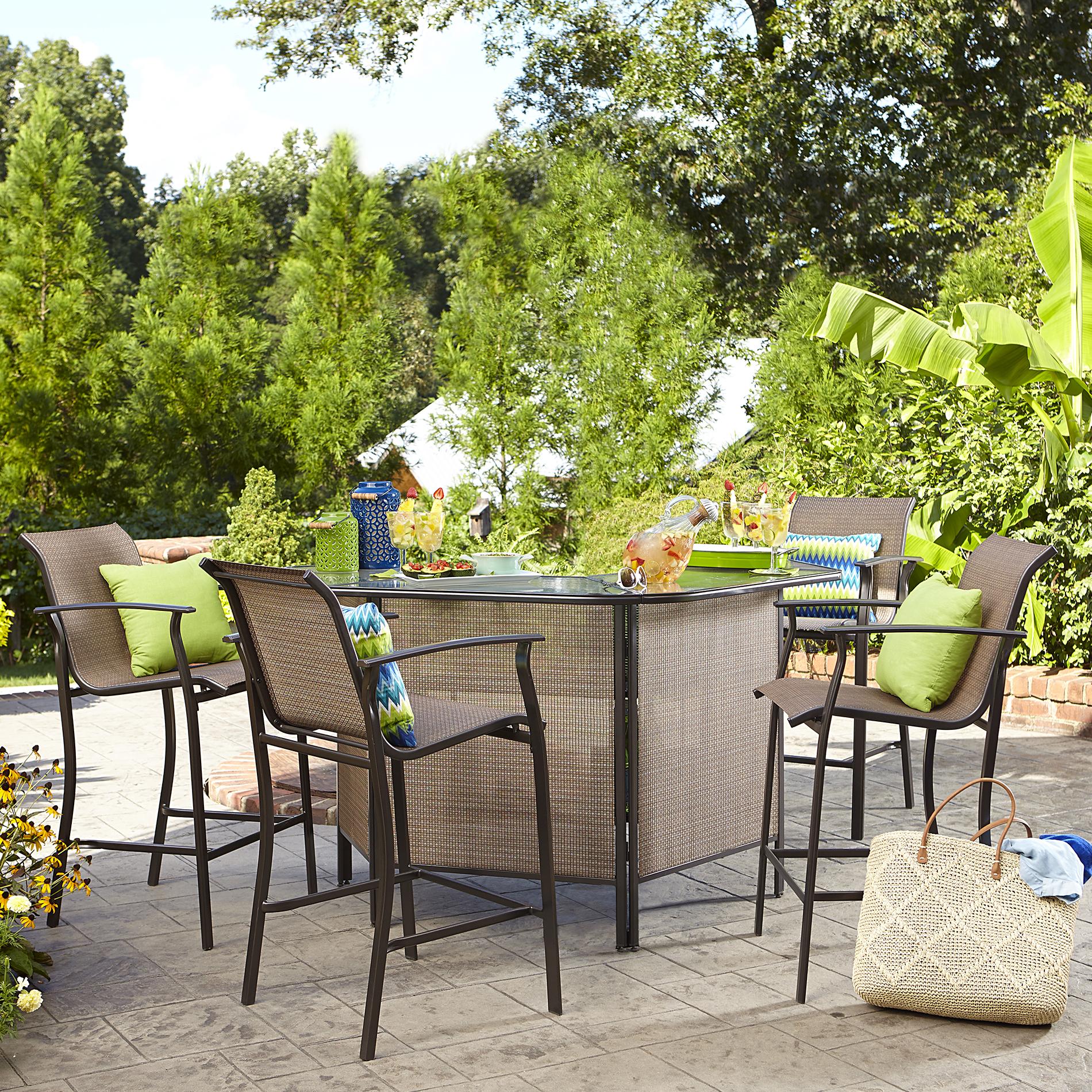 Outdoor bar set garden oasis harrison 5-piece outdoor bar set in tan - sears EAAMMDU