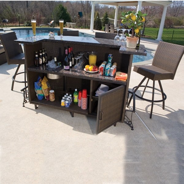 Outdoor bar set ... simply the best in outdoor bars and bar stools - alfresco home TCXNSPM