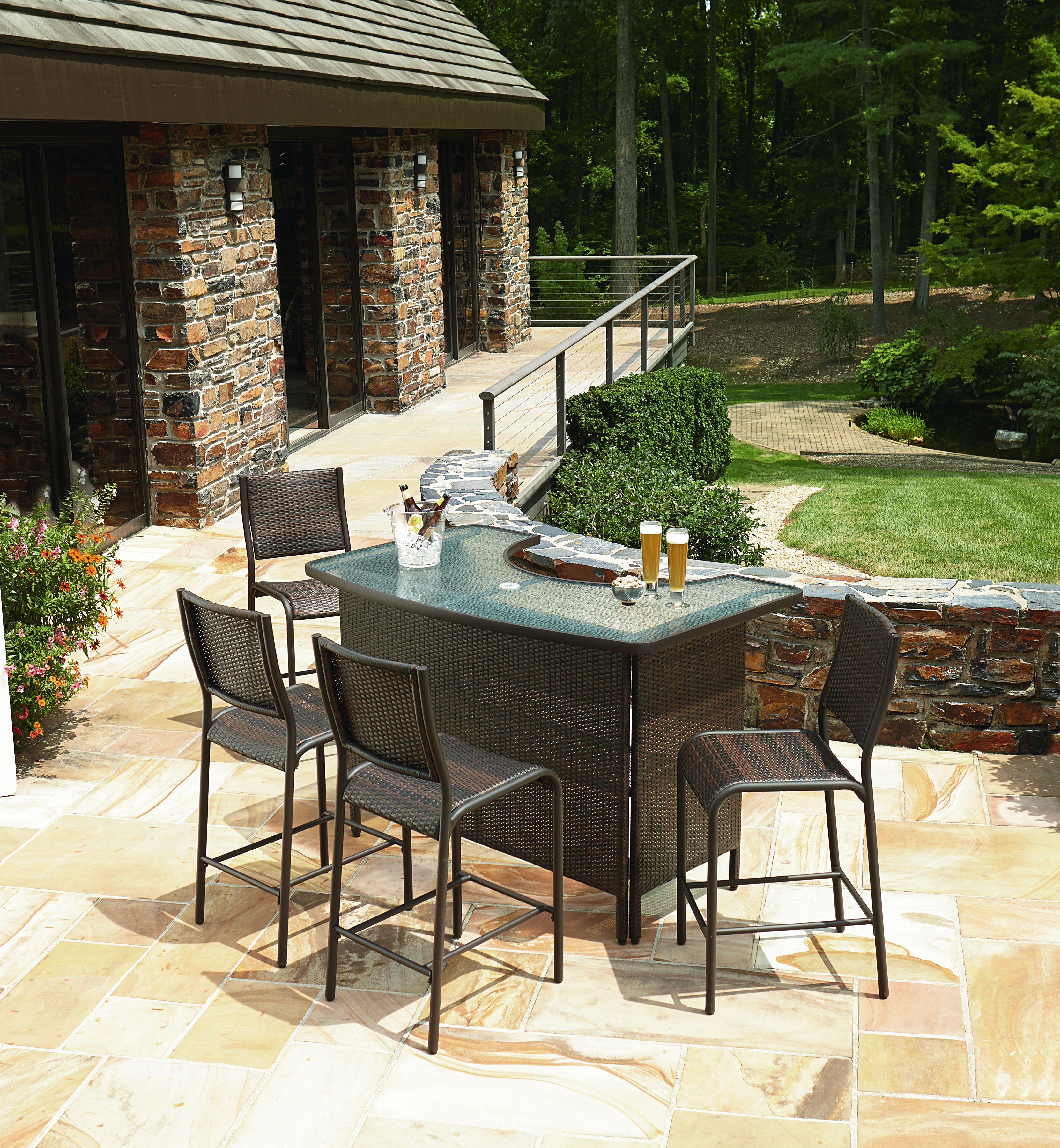 outdoor bar ty pennington parkside 5 piece bar set HHYMQNT