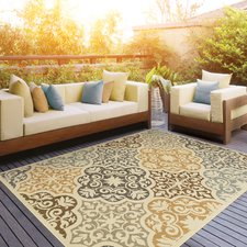 outdoor carpets colton yellow/brown indoor/outdoor area rug QUSXVQW