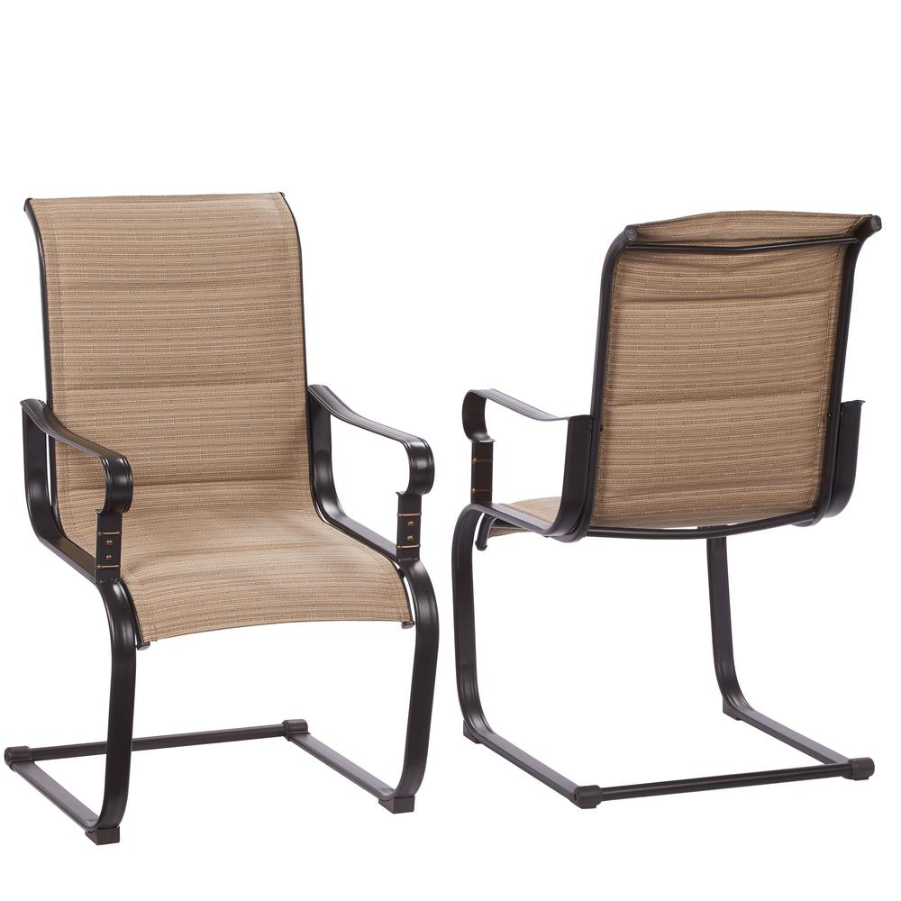 outdoor chairs belleville rocking padded sling outdoor dining chairs (2-pack) TULLUMY