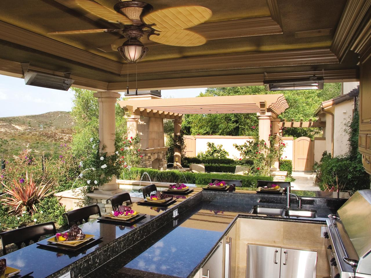 outdoor kitchens outdoor kitchen countertops options HOFJZTV