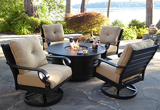 outdoor patio furniture sets fire pits u0026 chat sets FVYCSCF