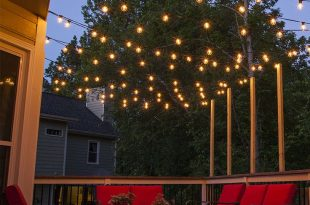 outdoor patio lights hang patio lights across a backyard deck, outdoor living area or patio. KZVQLJZ