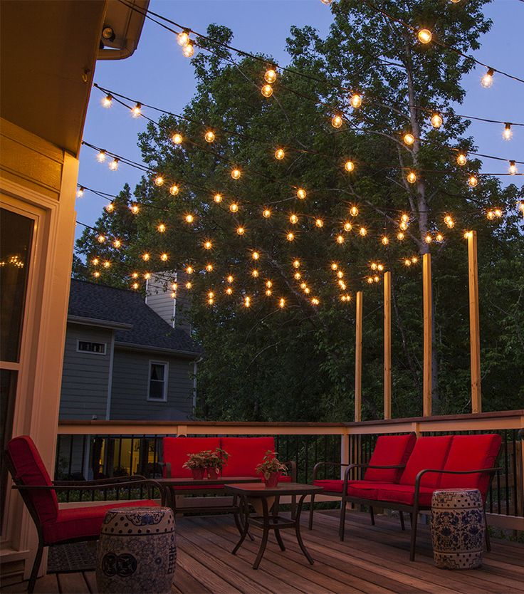 Lighten your patio area with outdoor patio lights.