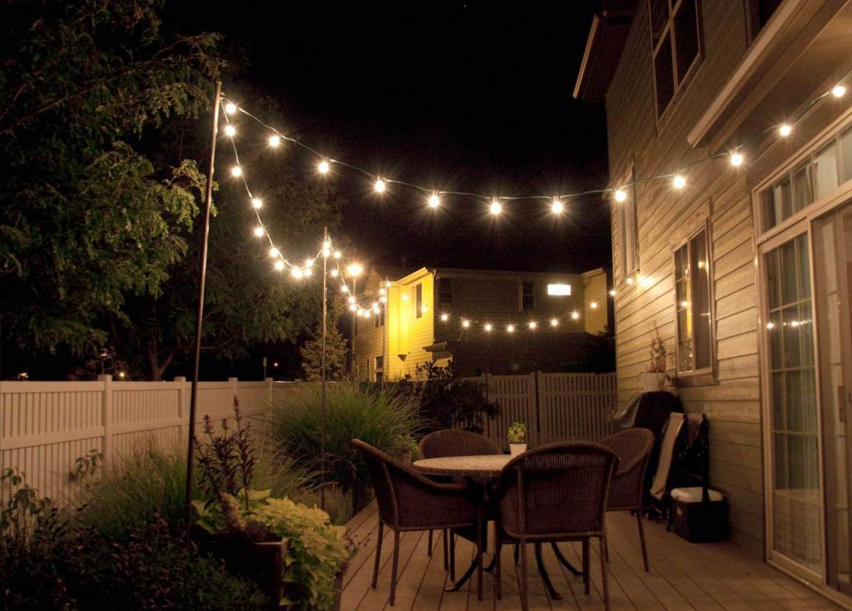 outdoor patio lights ideas outdoor lighting ideas courtyard decor candles  mood lighting RVMBTLE