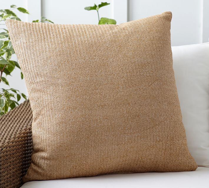 outdoor pillows faux natural fiber indoor/outdoor pillow | pottery barn ILSZWEY