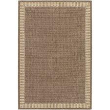 outdoor rug westlund wicker stitch cocoa/natural indoor/outdoor area rug XUBOVSS