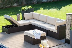 outdoor sectional belham living marcella all weather outdoor wicker 6 piece sectional set - TPVVYYX