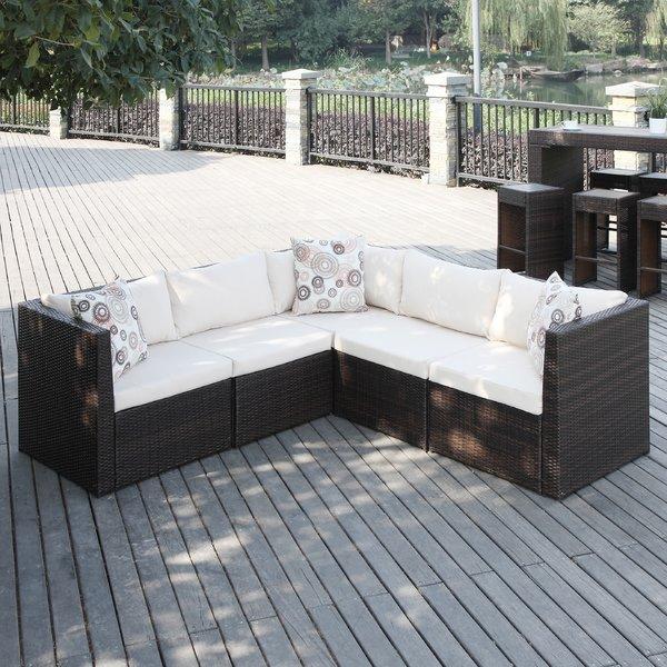 outdoor sectional mercury row lachesis sectional with cushions u0026 reviews | wayfair PKLRIZZ