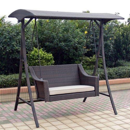 outdoor swings porch swings | outdoor patio home rolston wicker porch swing | outdoor WSXRSXZ
