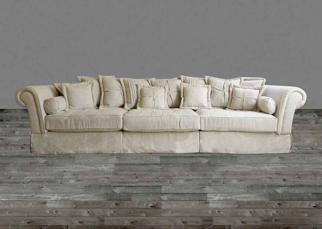 oversized sofa in sand linen QNLIPVI