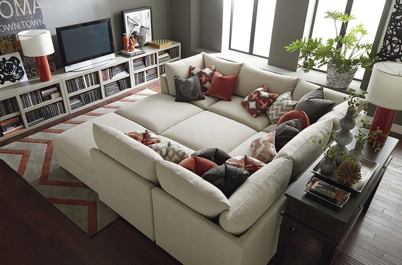 Add the oversized sofa in your home and get new look