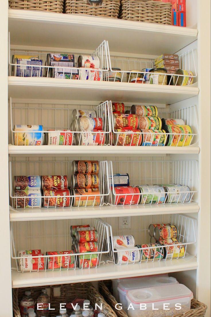Pantry storage eleven gables butleru0027s pantry canned food organization BARPWAO