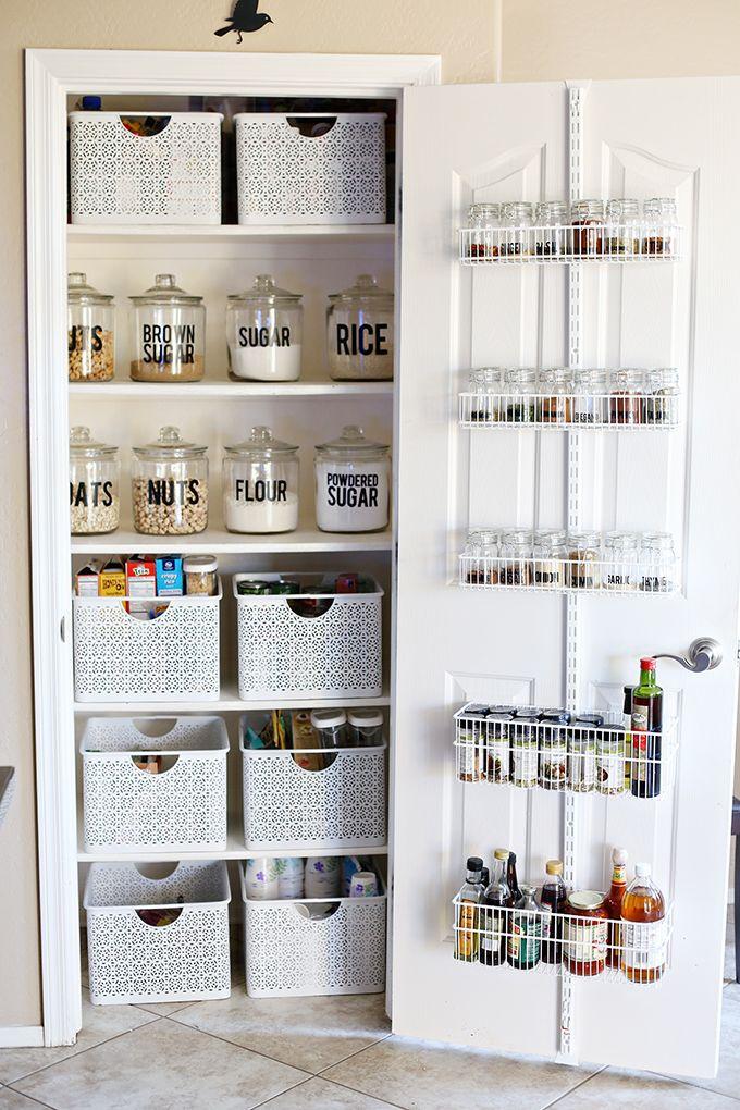 pantry storage organization: small pantry makeover ZVUNDDO