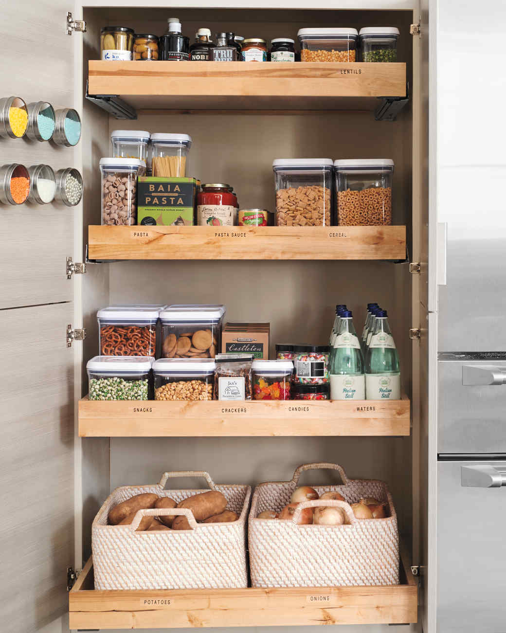 Find some storage pantry shelving for your kitchen