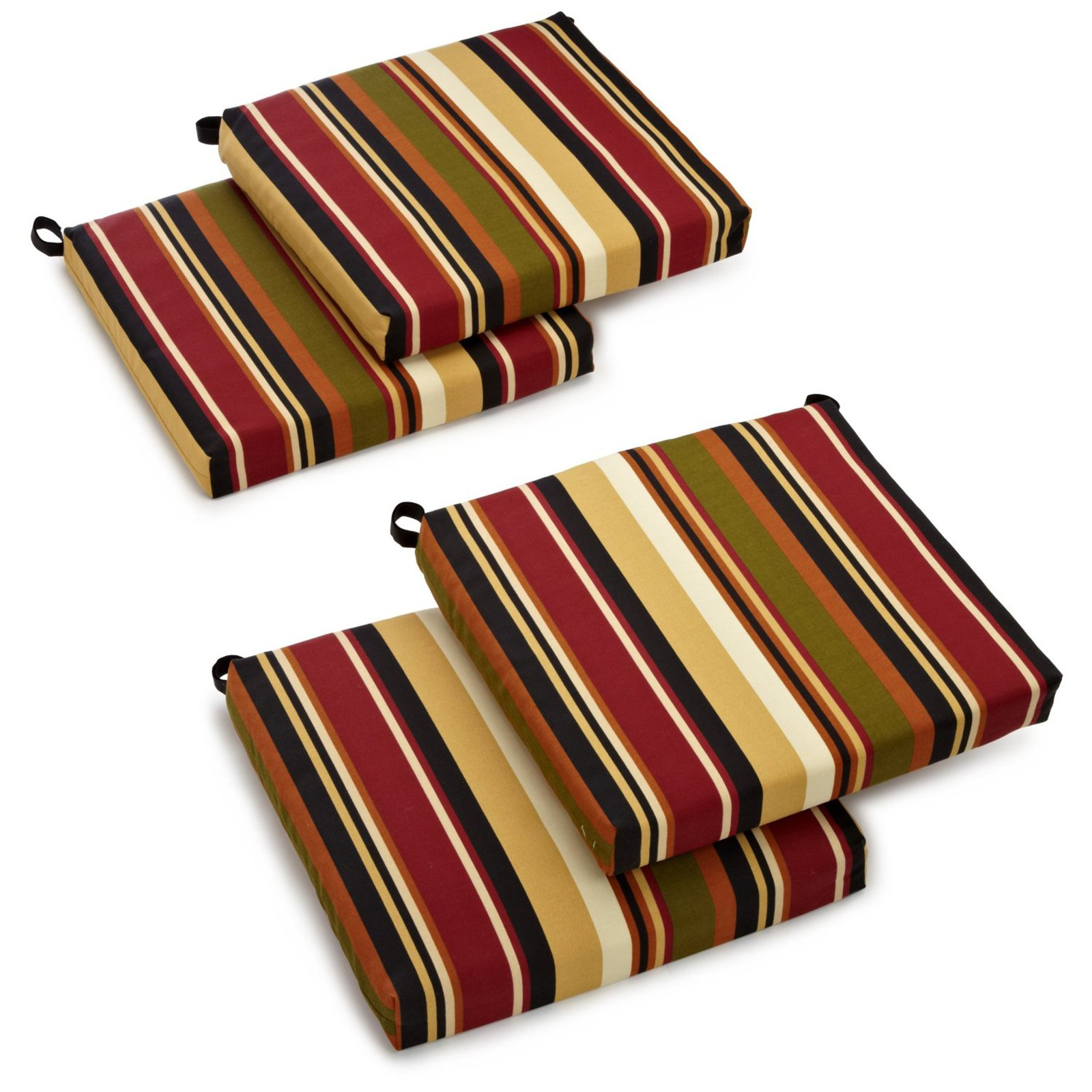 patio chair cushions blazing needles outdoor all weather uv resistant 4-piece patio chair cushion  set YQJNFBR