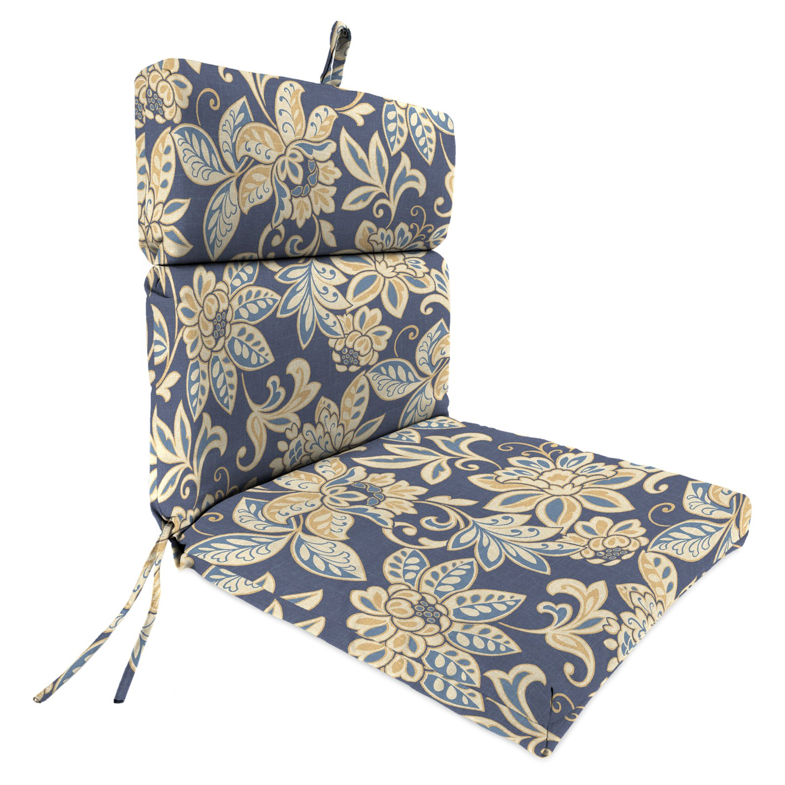 patio chair cushions outdoor high back patio chair cushion - outdoor cushions at hayneedle FWQQZES