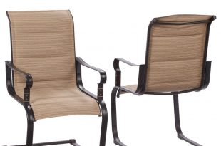 patio chairs belleville rocking padded sling outdoor dining chairs (2-pack) MGUKSZO
